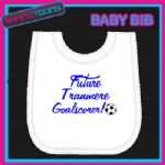 TRANMERE FOOTBALL WHITE BABY BIB EMBROIDERED - 160545389786